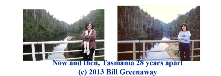 Now and Then. Tasmania in 28 years.