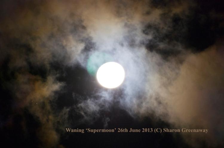 Waning 'supermoon' June 2013