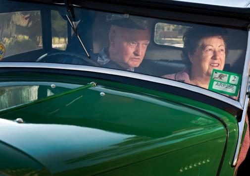 Billy and Carmel Watters roadtrip in Morris