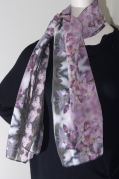 The Common Finge myrtle is all but common in its beauty. I designed this silk scarf from photographs I created last spring from nativeflora on the side of a road I travel often.