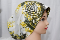 I use this style as both a cowl neck scarf and a headband, particularly handy.