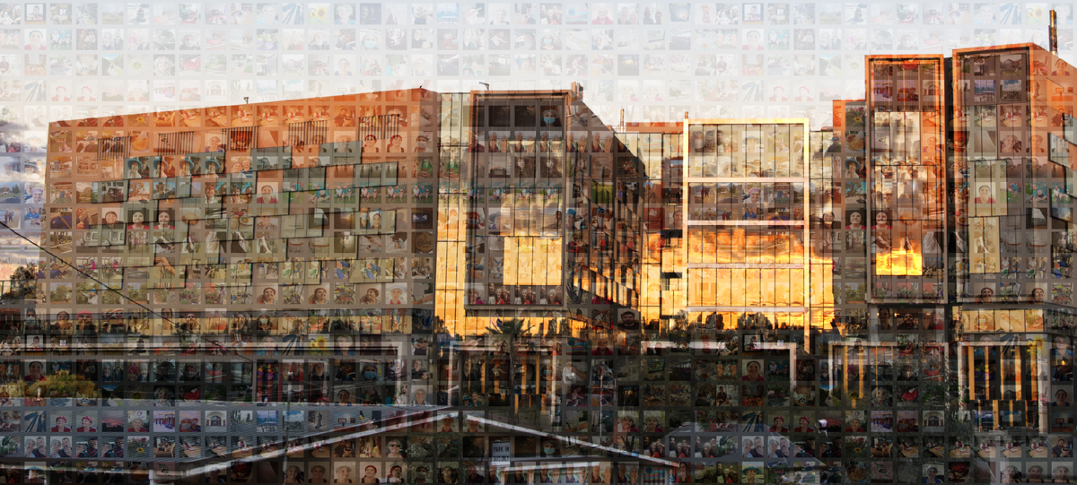 BENDIGO HOSPITAL AT SUNSET, WINTER 2021
